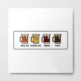 Beer Types Metal Print