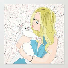 Tiffany & Romeow the Cat Canvas Print