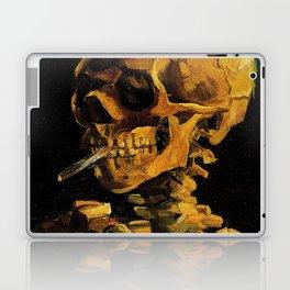 Van Gogh, Skull of a Skeleton with Burning Cigarette  – Van Gogh,Vincent Van Gogh,impressionist,post Laptop & iPad Skin