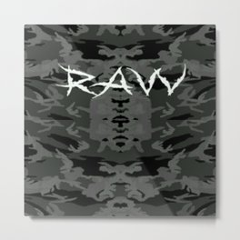 Raw ripped fatigue Metal Print