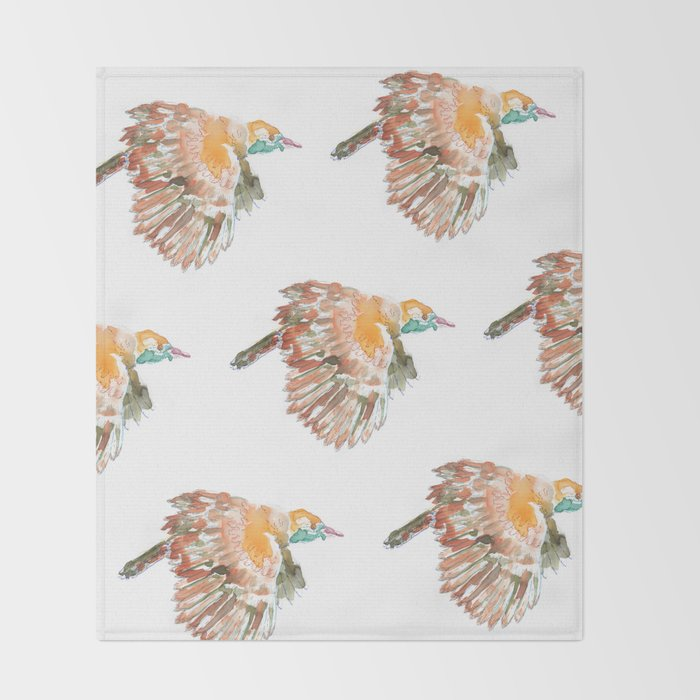 Claudio the bird Throw Blanket