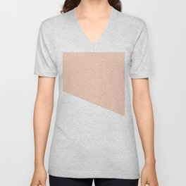 Geometric Blush Pink + White Unisex V-Neck