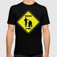 Droid Crossing Mens Fitted Tee SMALL Black