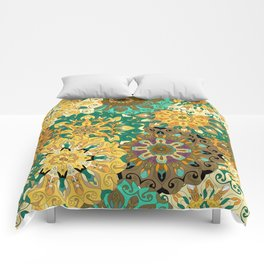 Boho Mandela Pattern 3 Comforters