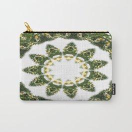 Little White Wildflower Kaleidoscope Art 5 Carry-All Pouch
