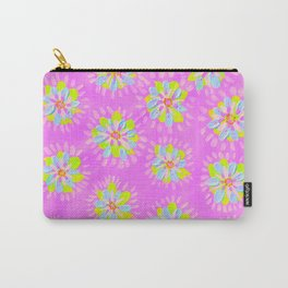Dayglow Violet Rose Carry-All Pouch
