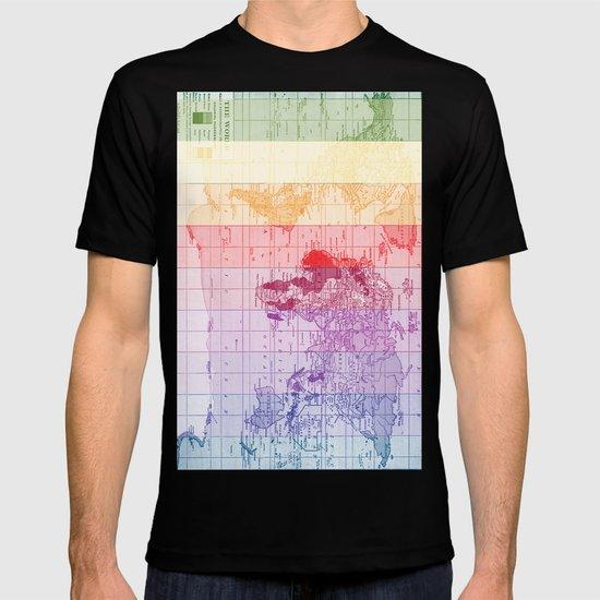 Rainbow World Map T-shirt