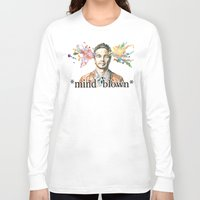 james franco Long Sleeve T-shirts featuring Mind Blown::James Franco by James Murlin