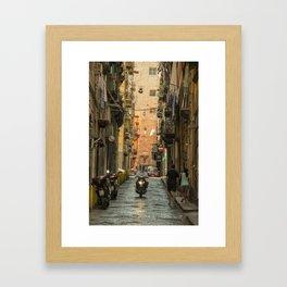 Neapolitan Moto Framed Art Print