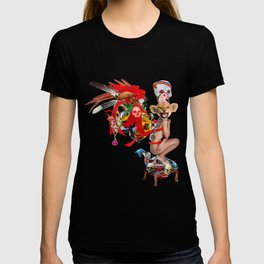 Skull Queen Ribbon Lion Witch Doctor T-shirt