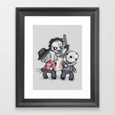 Horror Trifecta Plushie  Framed Art Print