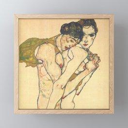 "Egon Schiele ""Friendship"" Framed Mini Art Print"