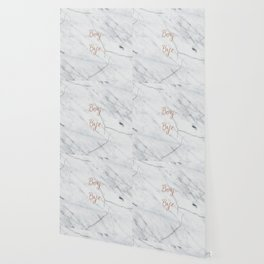 Boy. Bye. Rose gold and marble Wallpaper