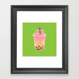 Frozen Boba Tea Framed Art Print