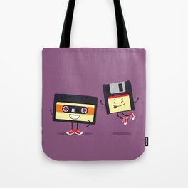 Floppy disk and cassette tape Tote Bag