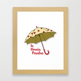 In Omnia Paratus - Umbrella Design Framed Art Print