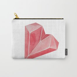 Crystal/Origami Heart Carry-All Pouch