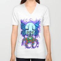 creativity V-neck T-shirts featuring Creativity  by Edgar Huaracha