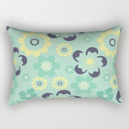 Blue pattern flower Rectangular Pillow