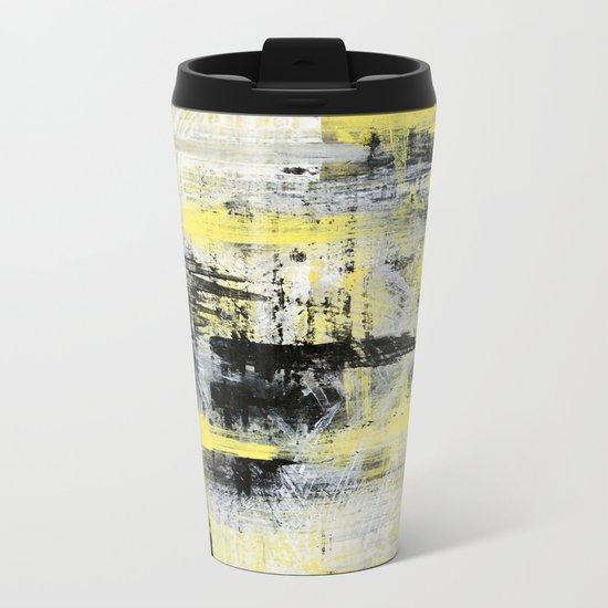 Urban Abstract Metal Travel Mug