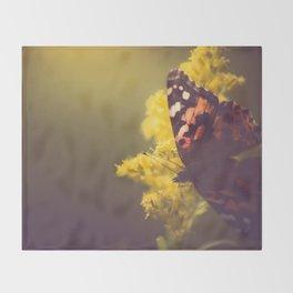 Sunlit Butterfly Throw Blanket
