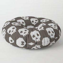 Knitted skull pattern Floor Pillow