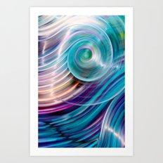 Suddenly Sapphire Art Print