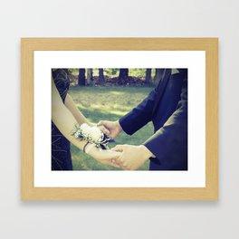 Happy Couple Framed Art Print