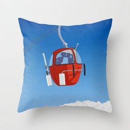 Grand Massif Throw Pillow