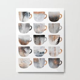 Dreamy Coffee Cups Metal Print