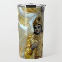 Lord Krishna Hindu Poster Yoga Buddhism Meditation Orient Travel Mug
