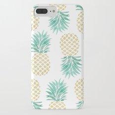 Gold Pineapples Slim Case iPhone 7 Plus