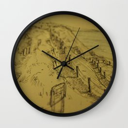 Beacons Sketch Wall Clock