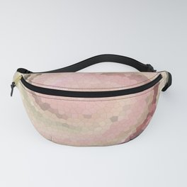 Multicolored mosaic in pink and grey tones . Fanny Pack