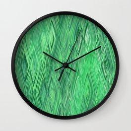 Abstract rhombs green Wall Clock