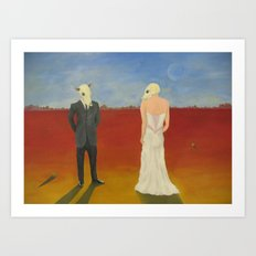 The Odd Wedding Art Print