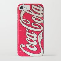 coke iPhone & iPod Cases featuring Coke by R&R.