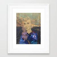tina crespo Framed Art Prints featuring Tina by Nina Schulze Illustration