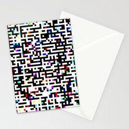 Abstract 8 Bit Pattern Stationery Cards