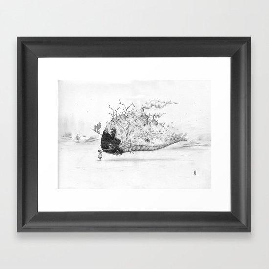 Touching you Framed Art Print