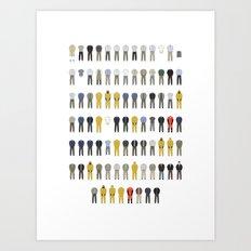 Walter White's Wardrobe - Season 3 Art Print