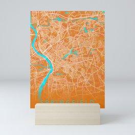 Springfield, MA, USA, Gold, Blue, City, Map Mini Art Print