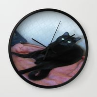 relax Wall Clocks featuring Relax by Layton Zimmages