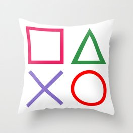 Gamer - Retro Throw Pillow