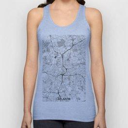 Atlanta City Map Gray Unisex Tank Top