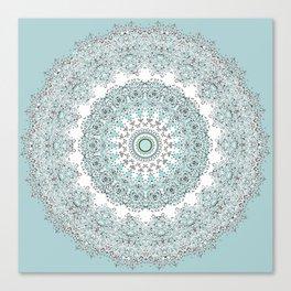 Mandala - Boho - Sacred Geometry - Pastels - Canvas Print