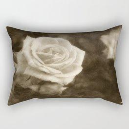 Pink Roses in Anzures 1 Antiqued Rectangular Pillow