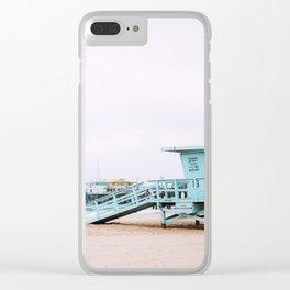 Santa Monica Pier Lifeguard Clear iPhone Case