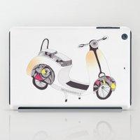 vespa iPad Cases featuring vespa by lf.o