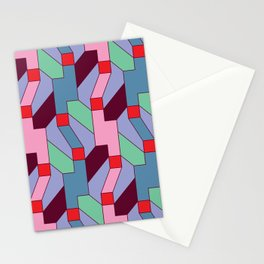 Pixel Weave Stationery Cards
